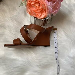 Manolo Blahnik Shoes - Manolo Blahnik, camel colored leather wedges, s 37